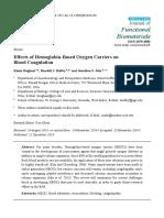 Effects of Hemoglobin-Based Oxygen Carriers