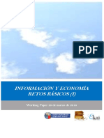 INFORMACION Y ECONOMIA. RETOS BASICOS I