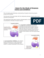 Simulation of Enzymes and Inhibition