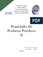 PROPIEDADES DE PRODUCTOS PETROLEROS