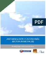 INFORMACION Y ECONOMIA. RETOS BASICOS II