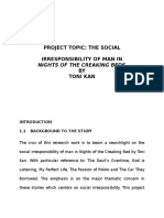 Project on Social Irresponsibility of Man