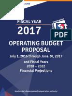 2017 Operating Budget Proposal