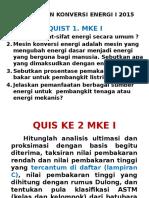 Quist Mesin Konversi Energi I- 2015