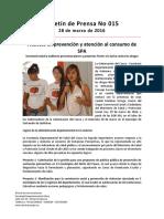 Boletín 015 Avances en Prevención y Atención Al Consumo de SPA