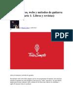 Guía de LibrosGuía de libros, webs y métodos de guitarra y música