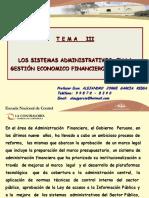 Modulo III.- Los Sistemas Administrativos Gestión Economico Financiero Estado