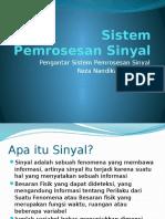 Sistem Pemrosesan Sinyal (Pertemuan1)