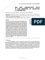 CPT Profiling and Laboratory Data Correlations for Deriving of Selected Geotechnical Parameter