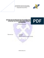 Perfil Proyecto Planta de Leche en Polvo