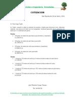 Presupuesto Puertas Hugo Trujillo
