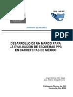 Desarrollo de Un Marco Para La Evaluación de Esquemas Pps en Carreteras de México