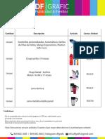 Cotización DFGrafic Artículos 2015