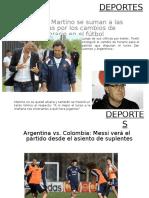 taller de técnicas audiovisuales diapositivas sobre deportes y turismo.ppt