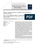 MRI and Ultrasonography for Diagnosis and Monitoring of Psoriatic Arthritis