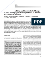 Feasibility, Reliability, And Sensitivity to Changeof Four Radiographic Scoring Methods in PatientsWith Psoriatic Arthritis