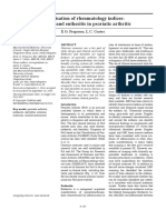 Optimisation of Rheumatology Indices