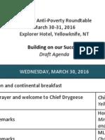Agenda - 3rd NWT Anti-Poverty Roundtable