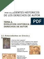 Antecedentes Historicos de Los Derechos de Autor 2013