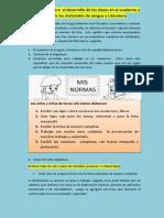 Desarrollo del contenido del cuaderno de Lengua y Literatura y su revisión