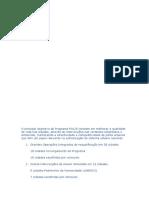 O Principal Objectivo Do Programa POLIS