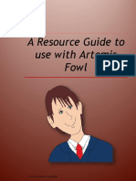 Artemis Fowl Book Unit