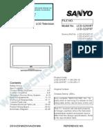9619 Sanyo LCD-32XH8T LCD-32XF8T Chassis UE8-L Televisor LCD Manual de Servicio