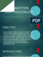 Handwritten Digit Regonizer
