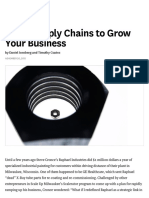 Using Supply Chains to Grow Your Business