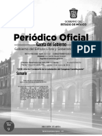 Acuerdo para entregar la medalla a Eruviel Ávila, publicado en la Gaceta del Edomex