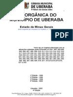 Lei Organica Municipal Uberaba MG