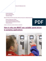 Variable Speed Drives on Pumping Applications
