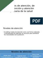 Niveles de Atención, De Prevención y Atención