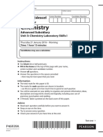 January 2016 (IAL) QP - Unit 3 Edexcel Chemistry