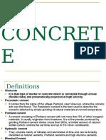 Concrete & types