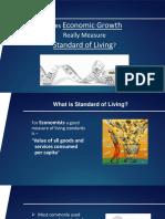 Economic Growth & Standard of Living