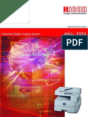 Ricoh Aficio 1515mf User Guide | Fax | Image Scanner