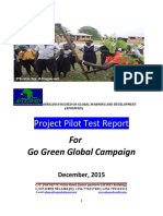 afogwads go green global campaign pilot test report