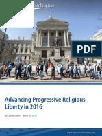 Advancing Progressive Religious Liberty in 2016
