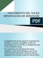 Tratamiento Del Iva en Importacion de Servicios