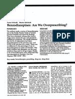 Benzodiazepines Overprescription