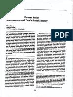 Luhtanen Crocker 1992 a Collective Self-Esteem Scale Self-Evaluation of One's Social Identity