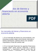 Mercado de Bienes y Mercado Financiero en Economía Abierta
