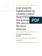 JOSÉ JOAQUÍN FERNANDEZ DE LIZARDI y JORGE IBARGÜENGOITIA