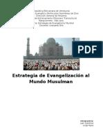 Estrategia de Evangelización al Mundo Musulman