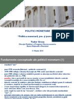 Seminar- Politica Monetară, Pre- Şi Post-criză