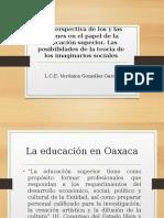 Imaginarios sociales y universidad en Oaxaca