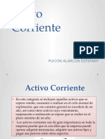 ACTIVO CORRIENTE. PUICON