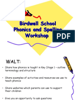 Phonics and Spelling Workshop