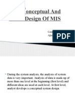 Conceptual and Detail Design of MIS